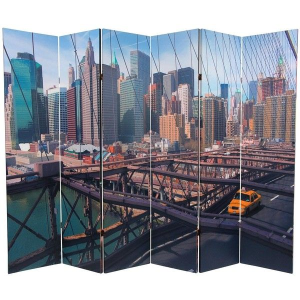 6 ft Tall Double Sided NY Taxi Room Divider (270 AUD) ❤ liked on