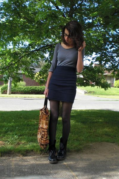Pencil Skirt With Doc Martens