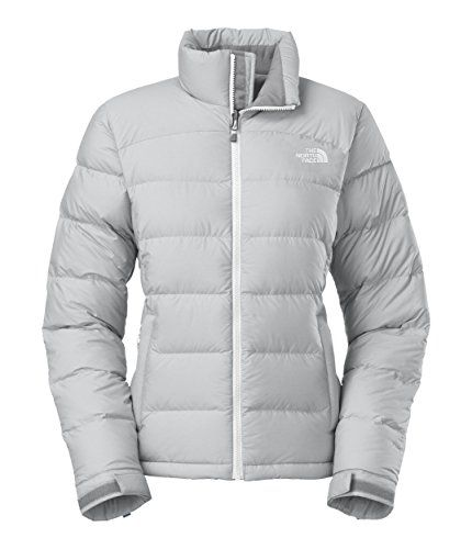 Women s The North Face Nuptse 2 Jacket High Rise Grey Heather TNF White Size  Medium     Click on the image for additional details. a3ef0186c