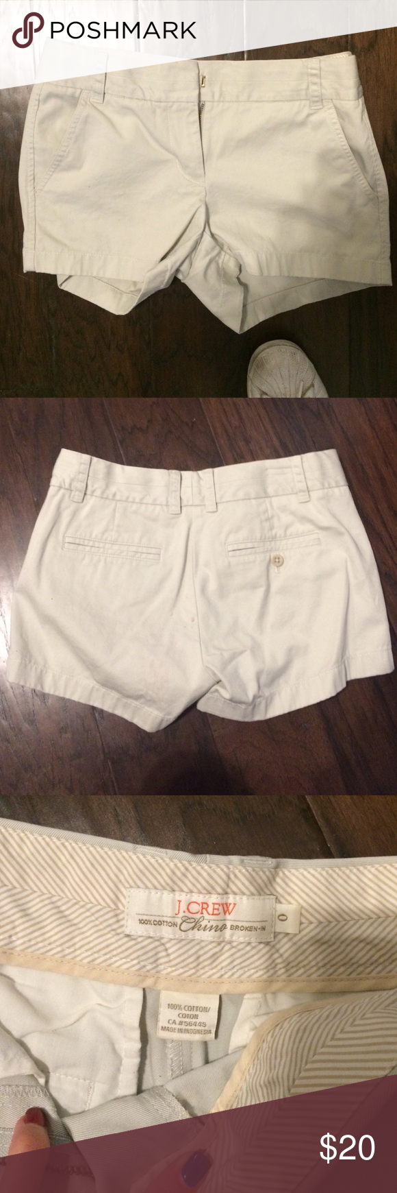 """Light Khaki J.Crew Shorts Very light wash, comfortable material (either 3"""" or 4"""" inseam) J. Crew Shorts Jean Shorts"""