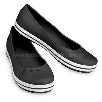 4f4a13438 Crocs Crocband Flats Black