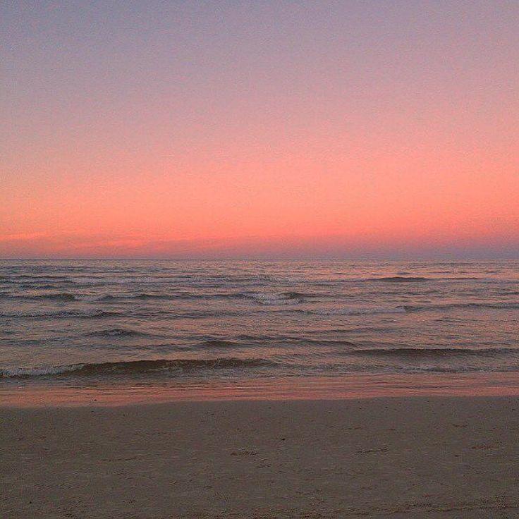 Pinksky Sunrise Sunset Beach Ocean Pink Calm Sky
