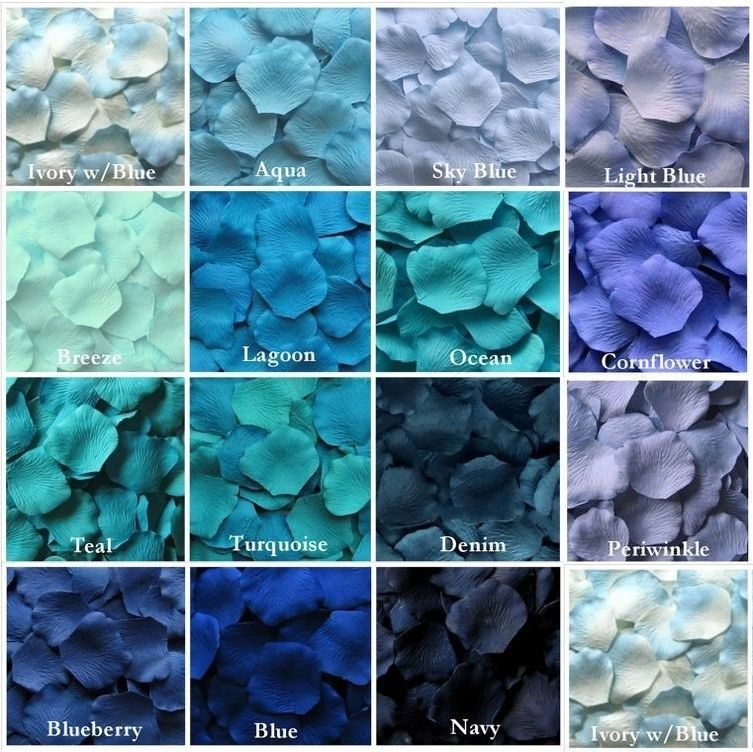 100 Pcs Aqua Blue Gradient Petal Wedding Runner Confetti Petals Decoration Au Aqua Blue Wedding Aqua Blue Wedding Theme Blue Themed Wedding