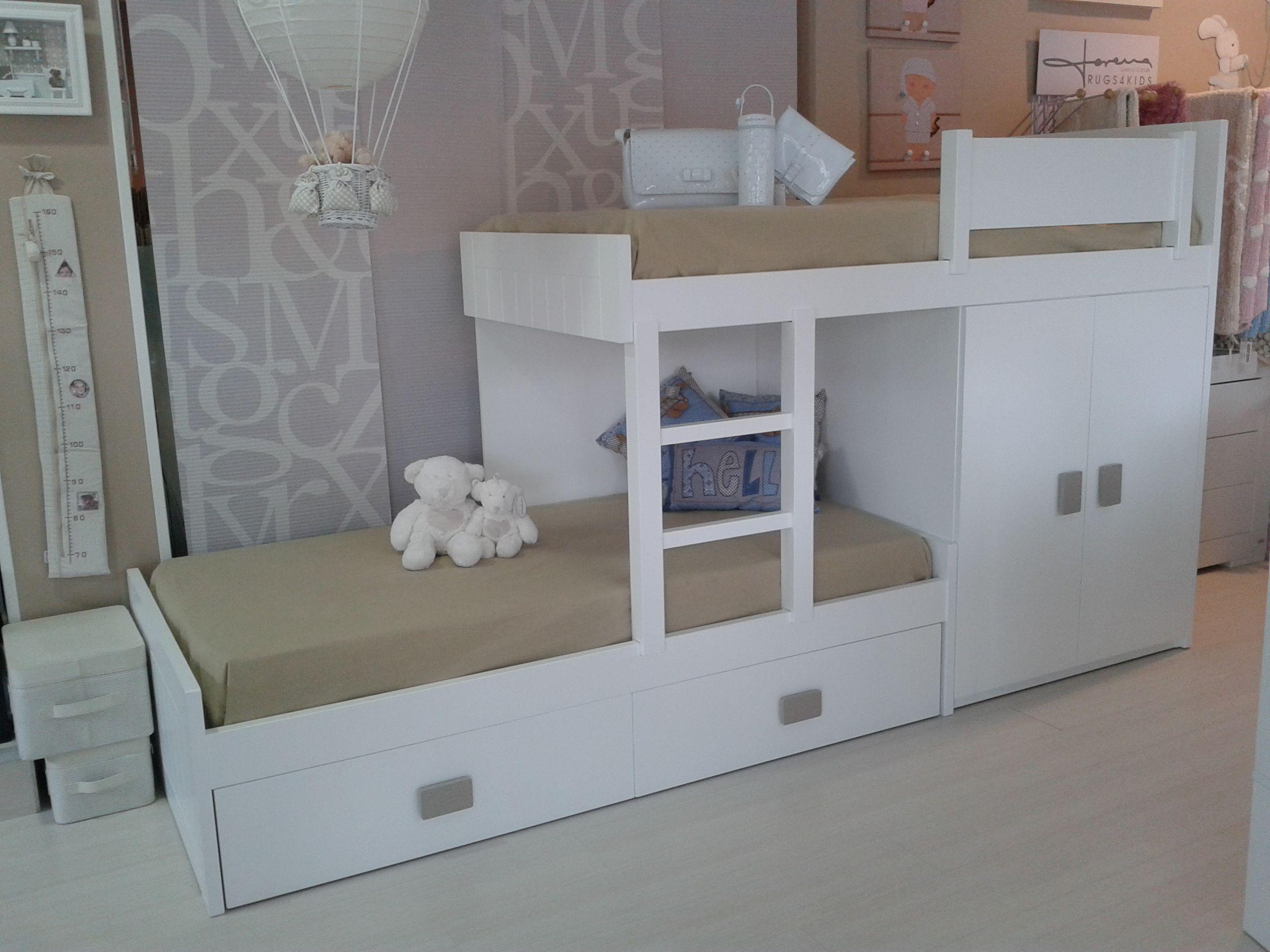 Litera de tren con un pr ctico armario dormitorios - Literas con armario ...