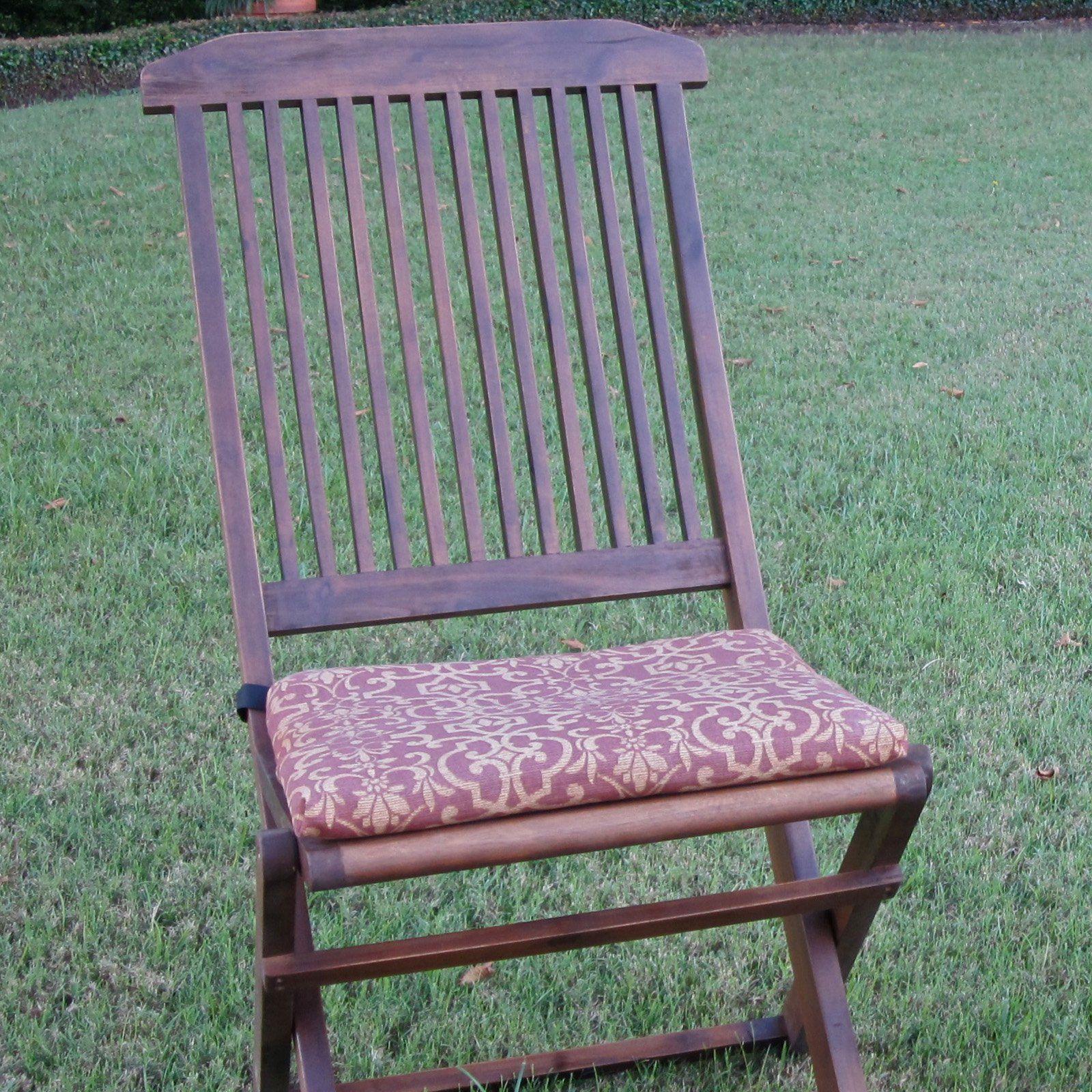 Folding Lawn Chair Patio Cushion Set Of 2