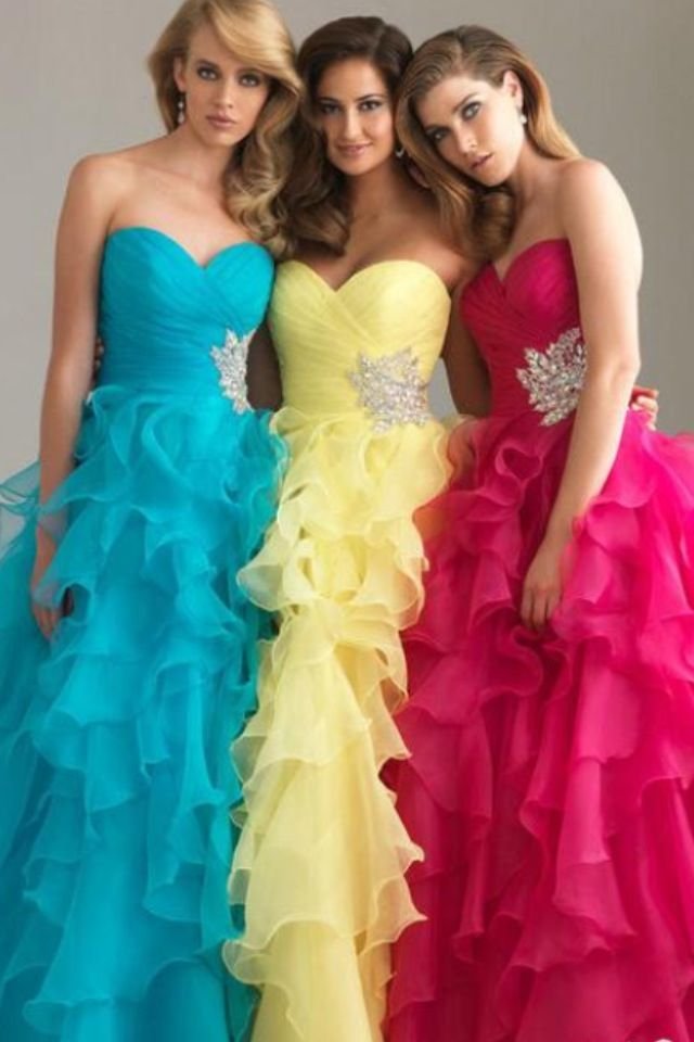 Love the yellow one! Take away the ruffles and it would be awesome!