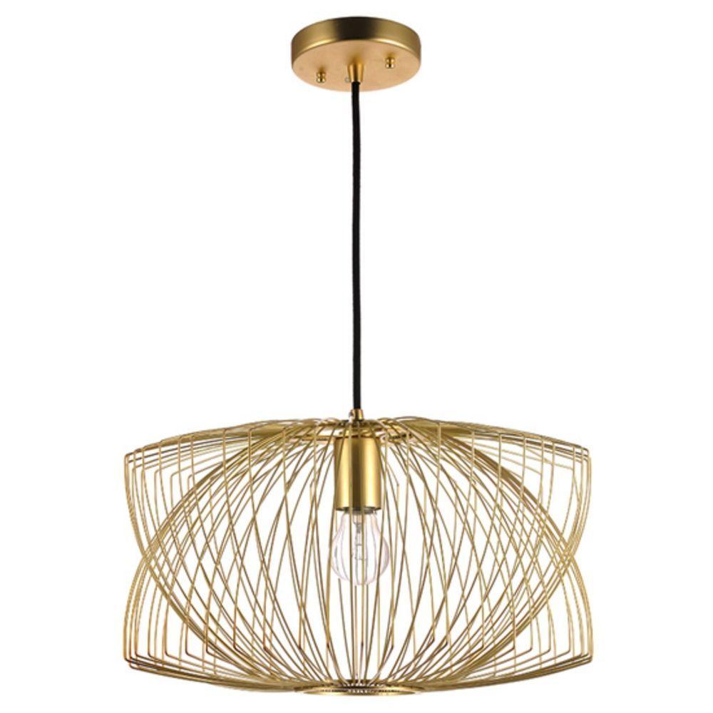 nuevo lighting helio pendant light in matte gold at destination