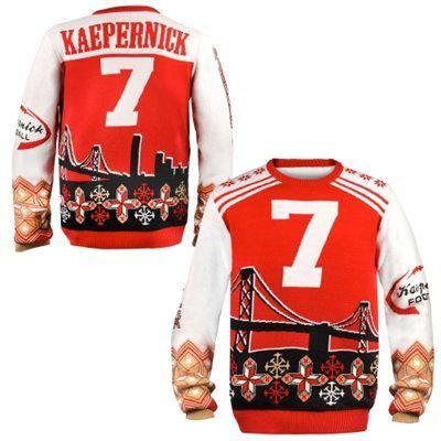 e178b029 San Francisco 49ers Colin Kaepernick Ugly Sweater | Faithfulista's ...