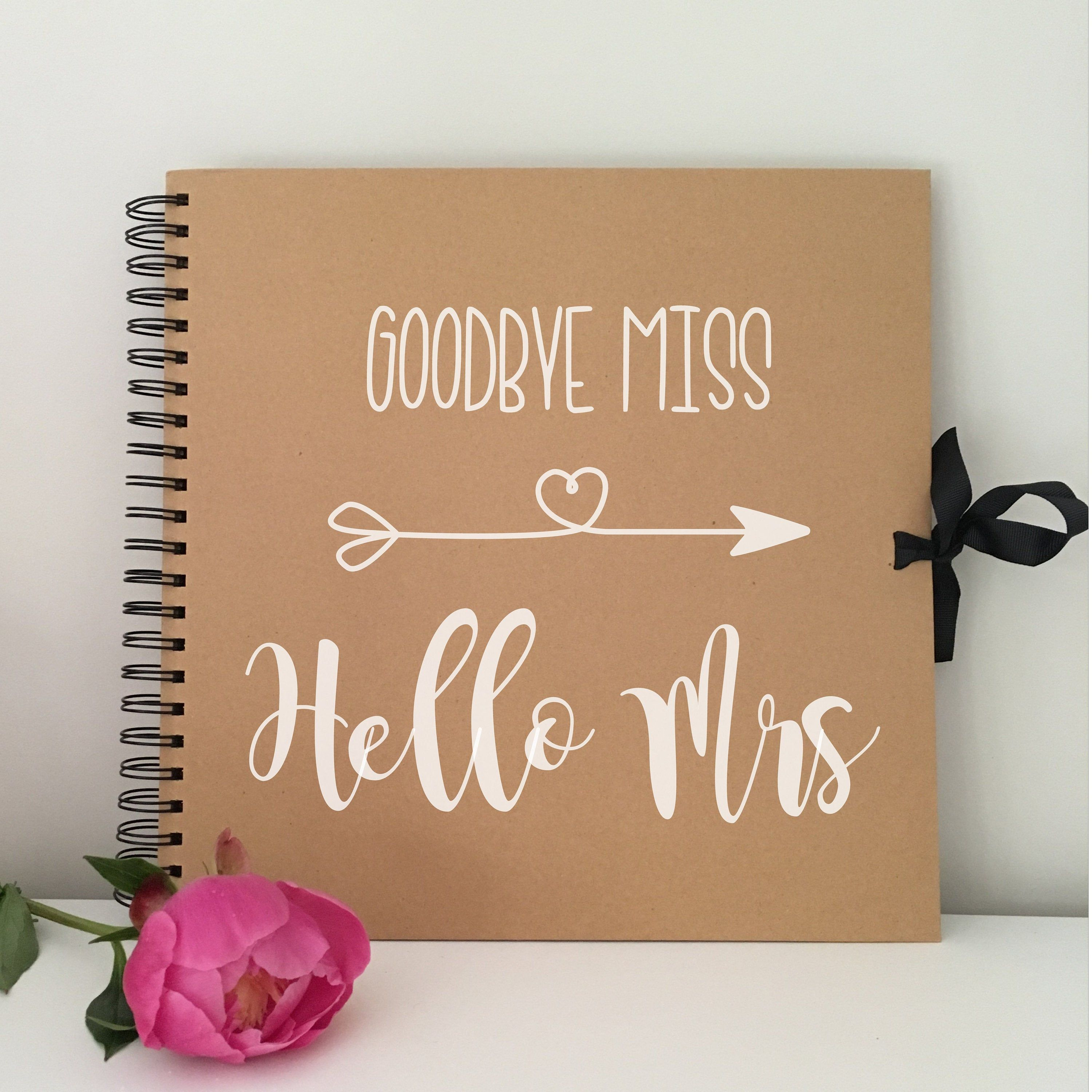 Rose Gold Goodbye Miss Hello Mrs Hen Party Advice Book Team Bride To Be Keepsake