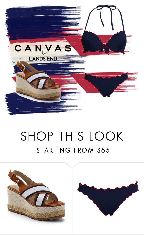"""""""Paint Your Look With Canvas by Lands' End: Contest Entry"""" by blue4828 on Polyvore featuring Lands' End and Canvas by Lands' End"""