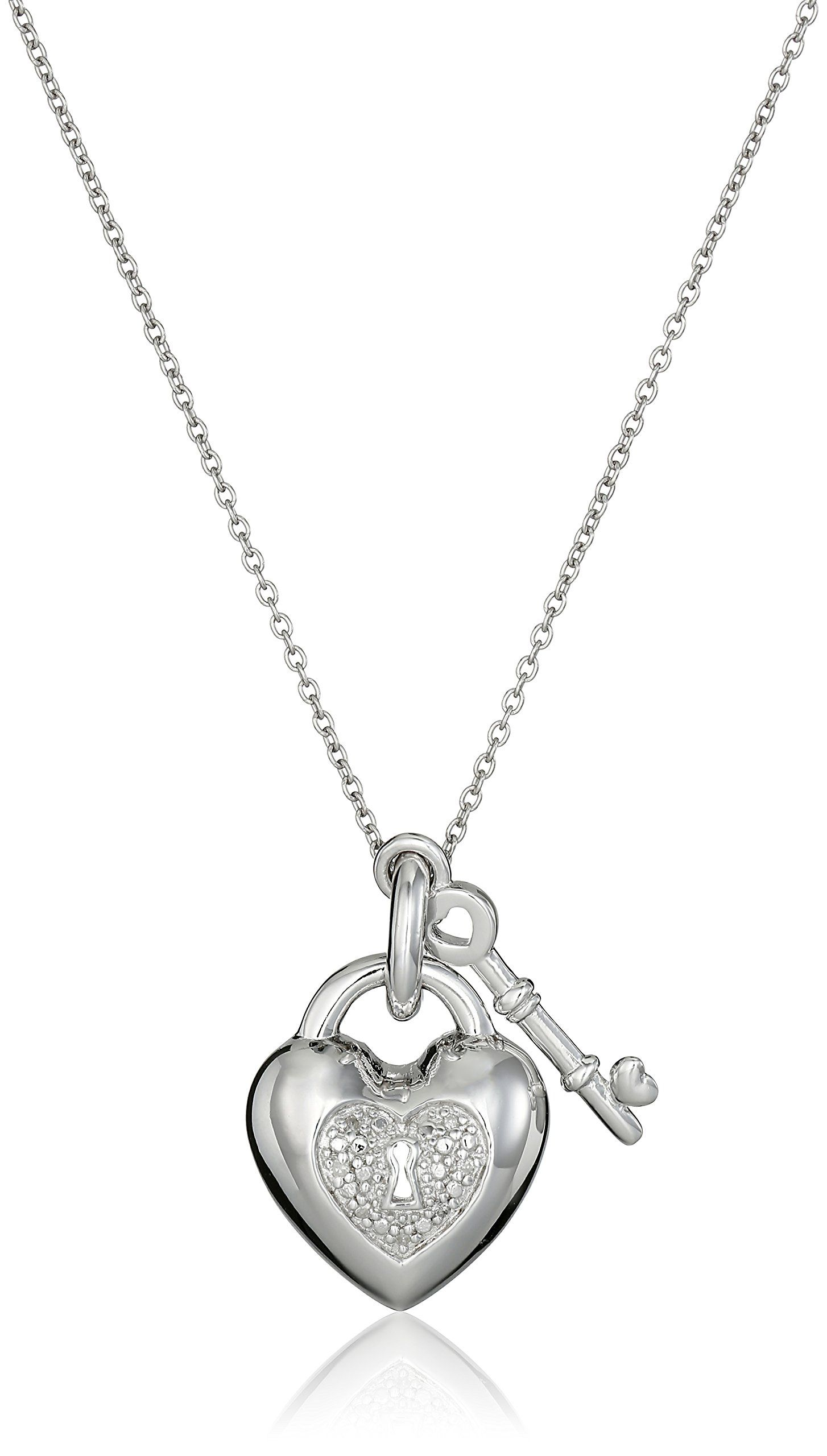 Sterling silver diamond heart key pendant necklace 18 all our sterling silver diamond heart key pendant necklace 18 all our diamond suppliers confirm mozeypictures Images