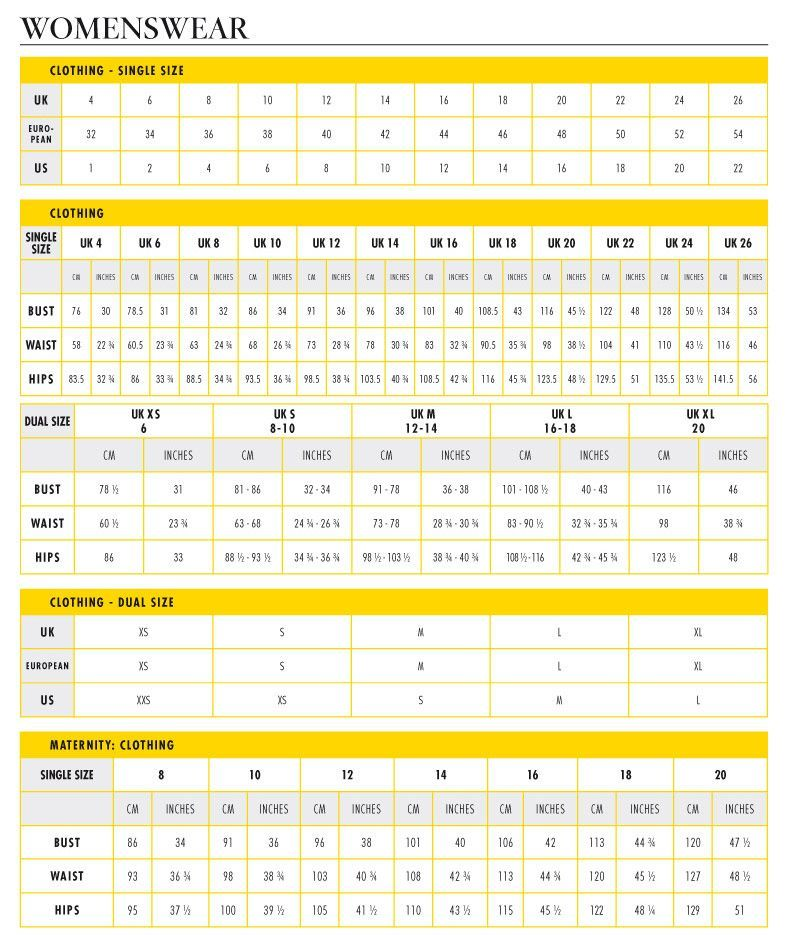 Uk To Us Size Chart Conversion For Women S Clothing Dress Size Chart Women Clothing Size Chart Womens Size Chart