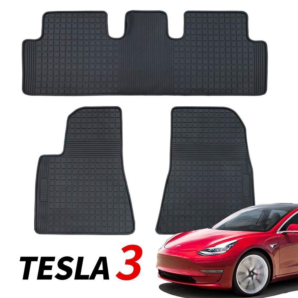 Bmzx Model 3 Car Floor Mats Set Rubber Cargo Liners For Tesla All Weather Heavy Duty Floor Protection Tesla Model 3 2 In 2020 Car Floor Mats Floor Mats Cargo Liner