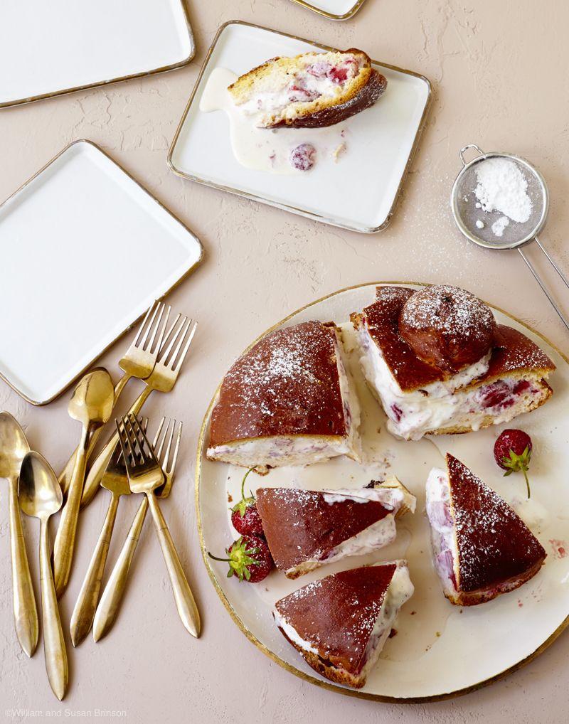 """Grilled Brioche and Strawberry Ice Cream """"Cake"""" Recipe - House of Brinson"""