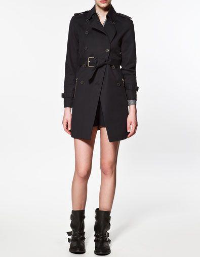 Pin On Rocker Fairy S Corner, Trench Coat Zara Woman