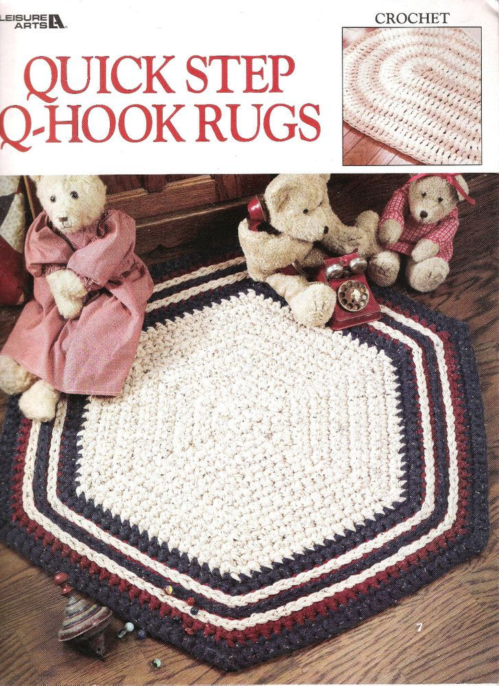 Crochet Patterns RUGS Hexagon Rectangle Round Square Half Round ...