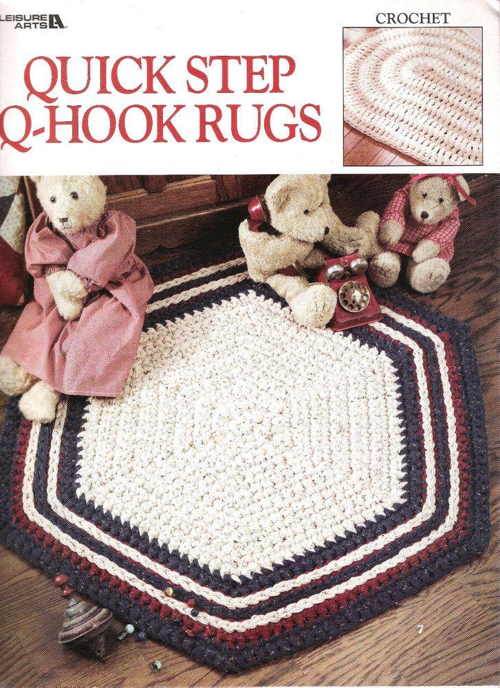 Crochet Patterns RUGS Hexagon Rectangle Round Square Half Round ...