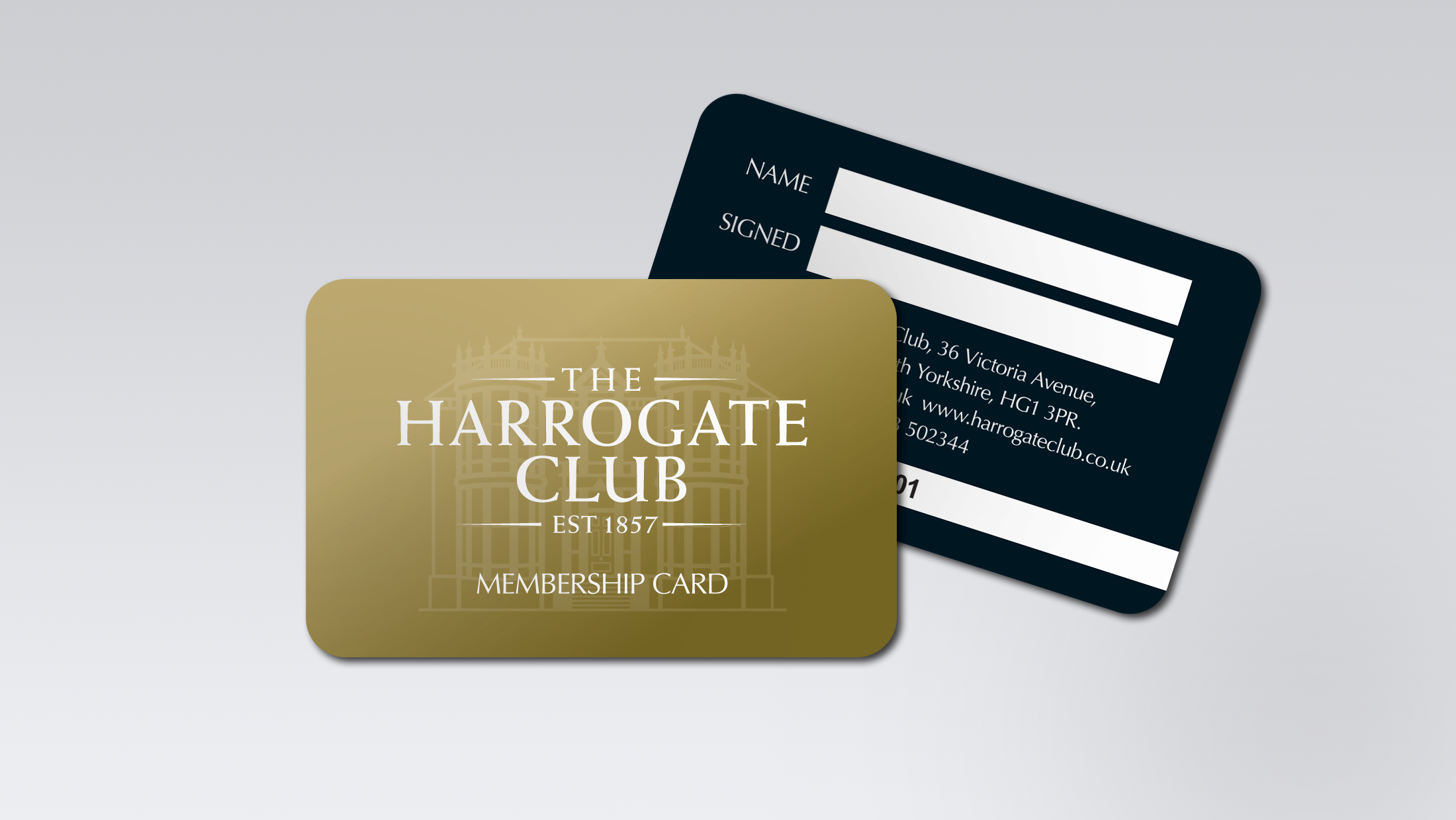 membership card design for The Harrogate Club – Club Card Design