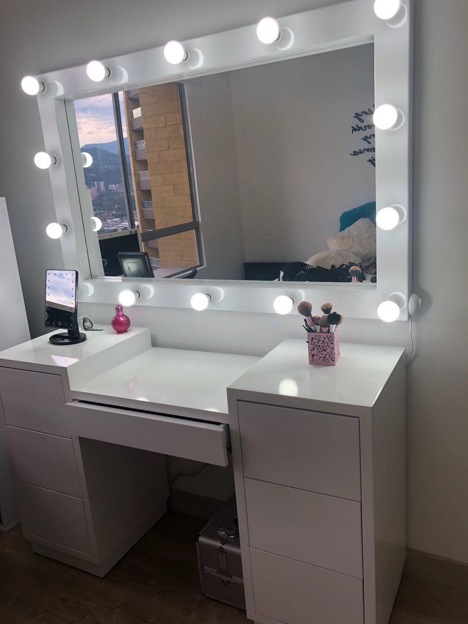 Espejo Camerino Escritorio Organizador Make Up En 2020