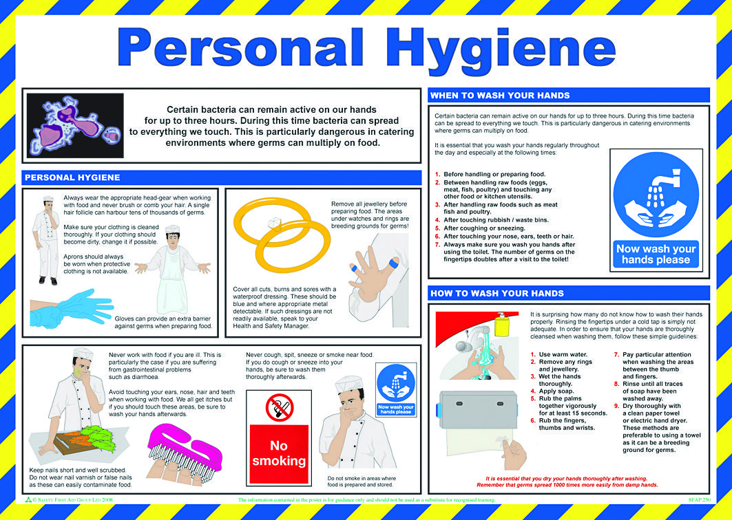 personal hygiene in the workplace Personal hygiene is very important for every workplace with the kind of health  hazards that are impersonated to the human race nowadays,.
