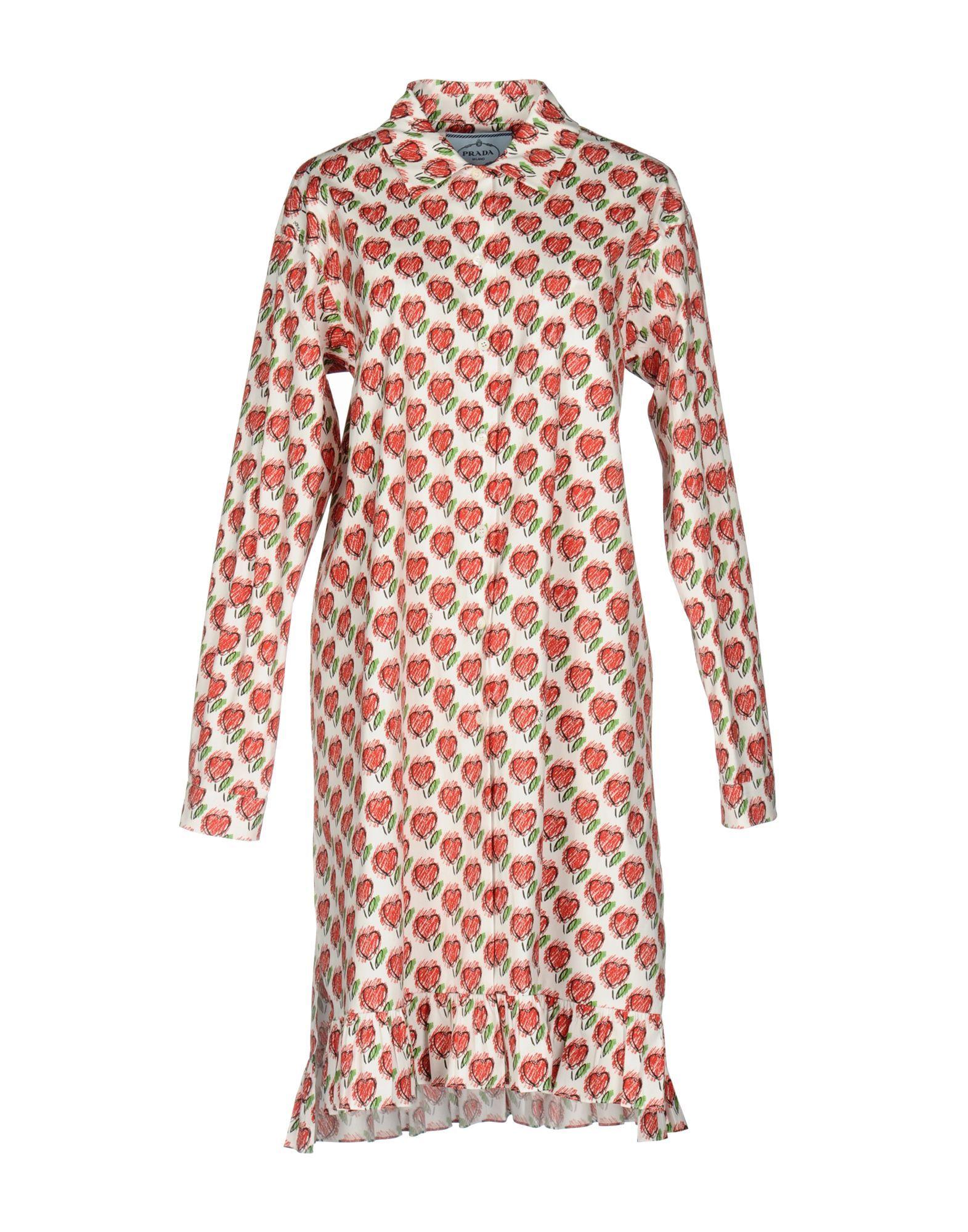 PRADA KNEE-LENGTH DRESSES. #prada #cloth #   Prada   Pinterest
