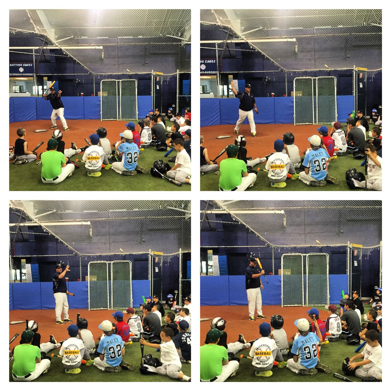 Pbi Indoor Baseballcamp 4 Day 1 Upper Hitting Mechanics With Steve Hayward Baseball Camp Coaching Indoor
