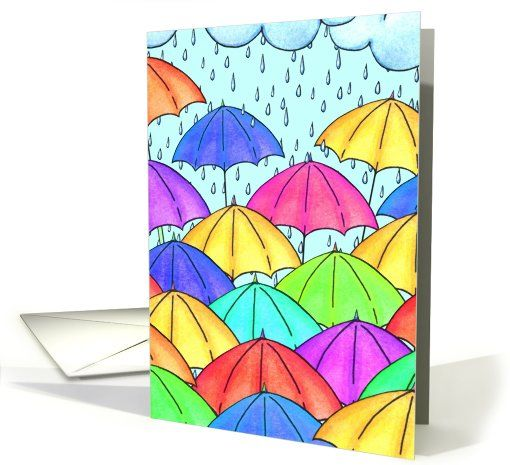 Dance In The Rain card by Olivia Kneibler #anycardimaginable