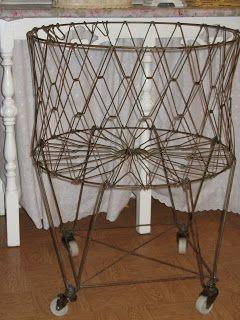 Artsy Fartsy Vintage Laundry Metal Laundry Basket Laundry Basket On Wheels Metal laundry basket on wheels