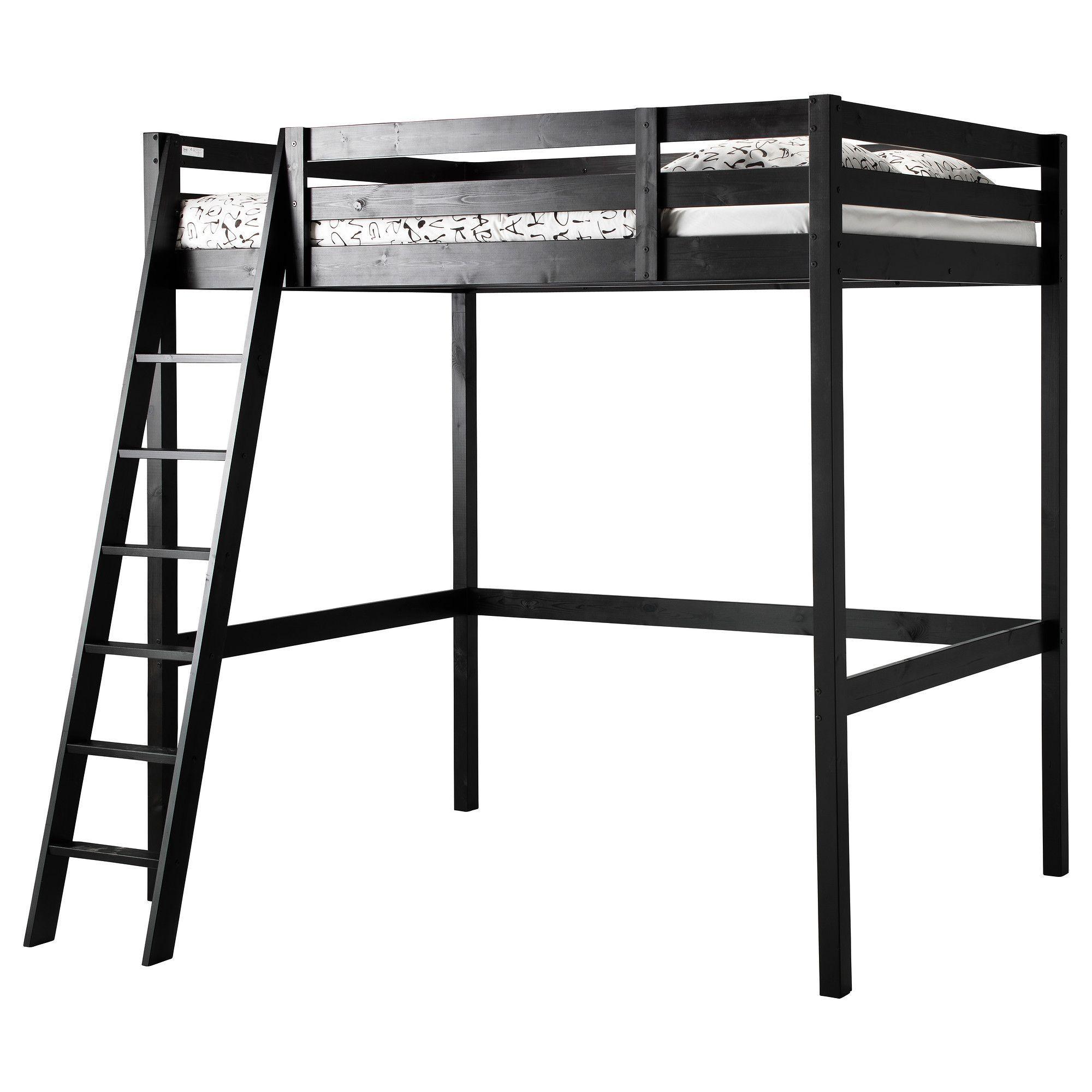 STORÅ Loft bed frame, black | Pinterest | Camas altas, Ikea y Camas