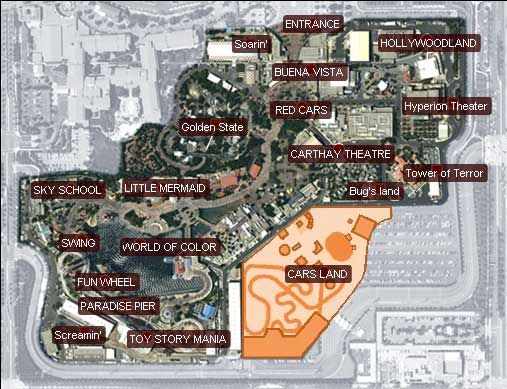 "Interactive Map of the ""New"" California Adventure 