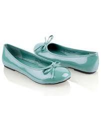 Tiffany blue ballet flats