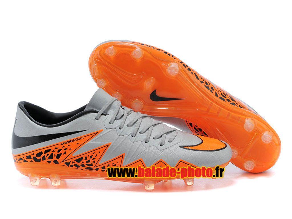 the latest c830c 3c907 Nike Hypervenom Phantom prime FG Chaussures de football Orange Gris Noir  4549