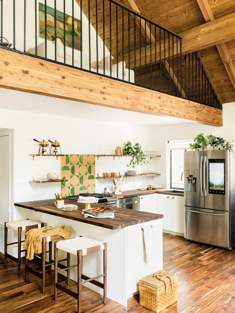 Claire Thomas's Big Bear Lake Home Tour | Cabin kitchens ...