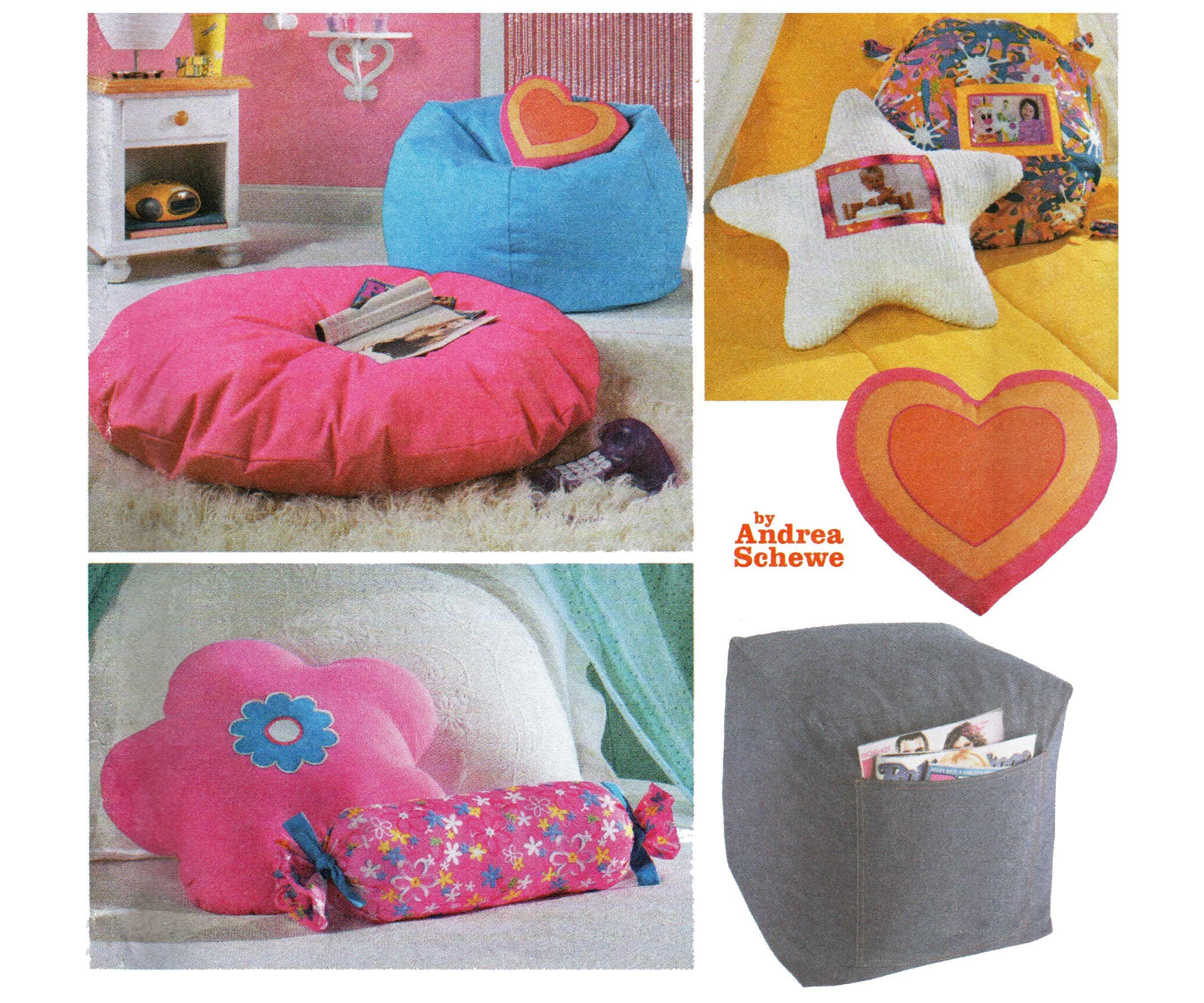 Sensational Heart Star Flower Floor Pillow Pattern Neck Roll Bolster Creativecarmelina Interior Chair Design Creativecarmelinacom