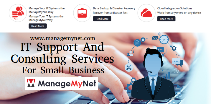 Managemynet Provide Best And Affordable It Support And Consulting Services For Small Business Itsup Cloud Computing Services Technology Management Supportive