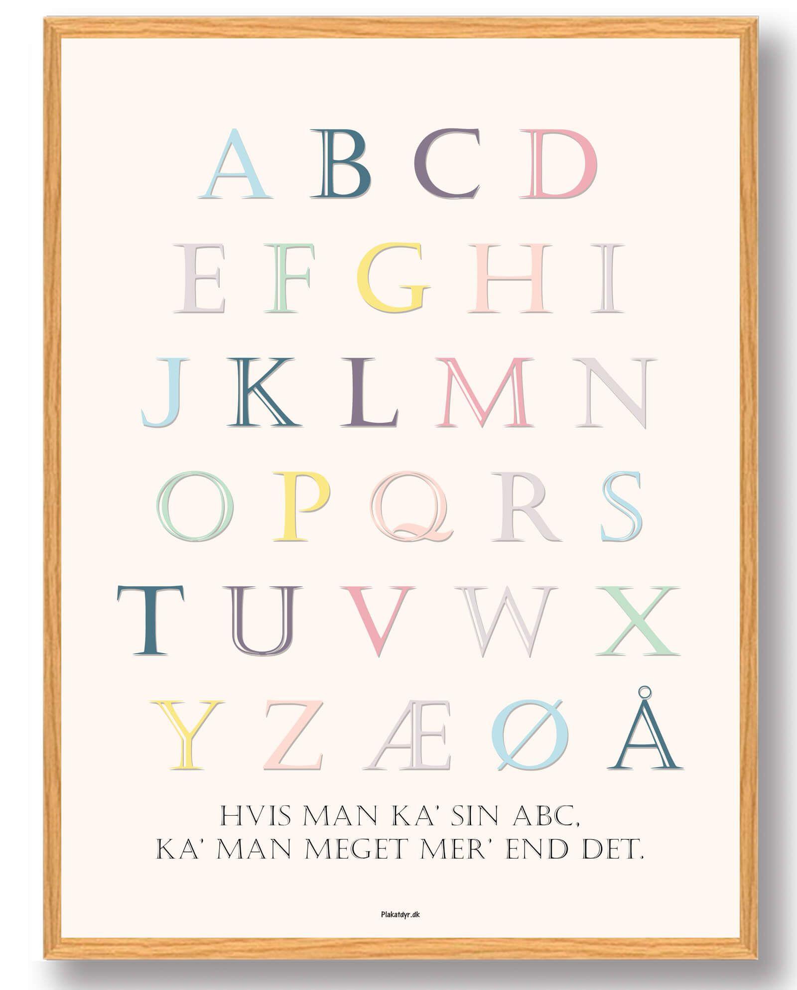 Kob Vores Abc Plakat Plakat Online Bornevaerelse Plakater Pigevaerelse