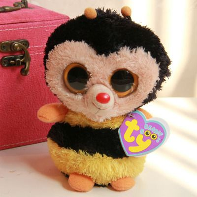 TY Beanie Boos Big Eyed Stuffed Animals Sting the Bumble Bee Plush Toys For Children Gifts Kids Toys 15CM