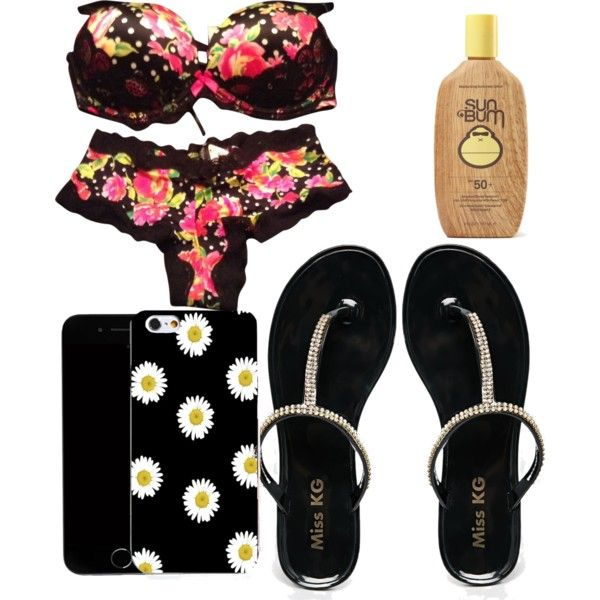Untitled #230 by evanmonster on Polyvore featuring polyvore beauty Sun Bum Victoria's Secret Miss KG