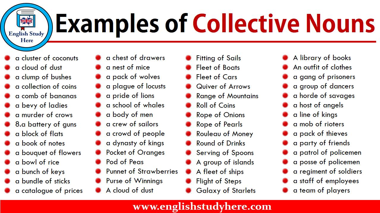 Http Englishstudyhere Com Nouns Examples Of Collective Nouns Collective Nouns Nouns English Study