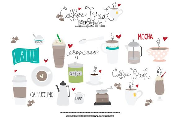 Coffee Break Png Clipart By Holly Mccaig Creative On Creative
