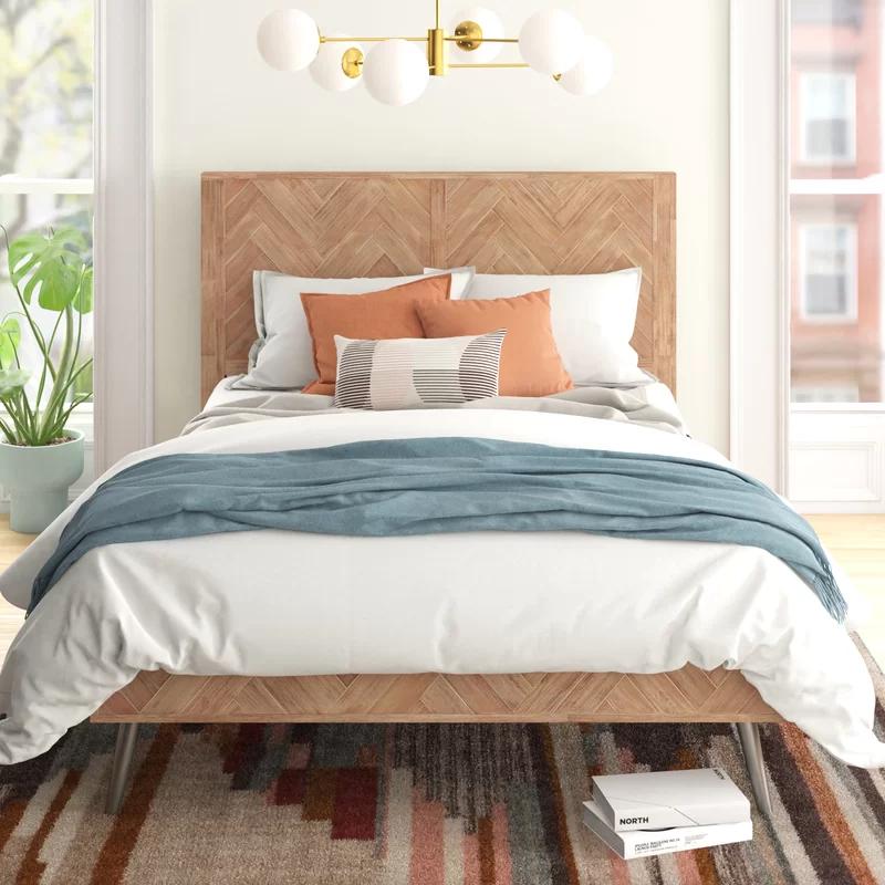 Keziah Platform Bed Platform bed, Bed sizes, Upholstered