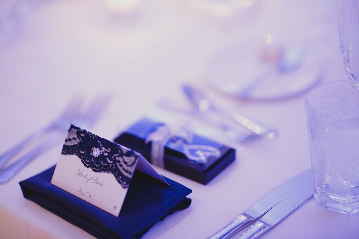 #weddingreception #reception #wedding #bluelights #placecards