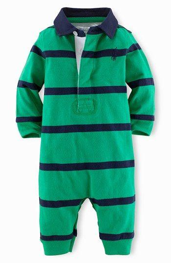 Ralph Lauren Rugby Stripe Romper Baby Nordstrom My