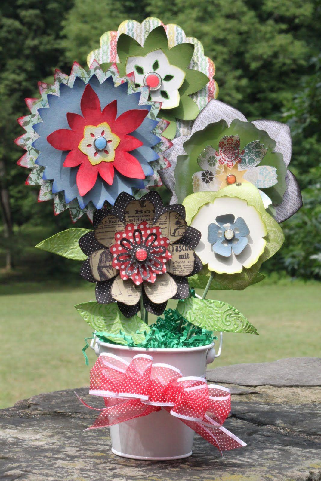 Paper Flower Bouquet Cricut Mother S Day Bouquet And Echo Park