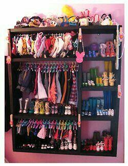 Armario ropero muñecas & Armario ropero muñecas | American girl diy/crafts | Pinterest ...