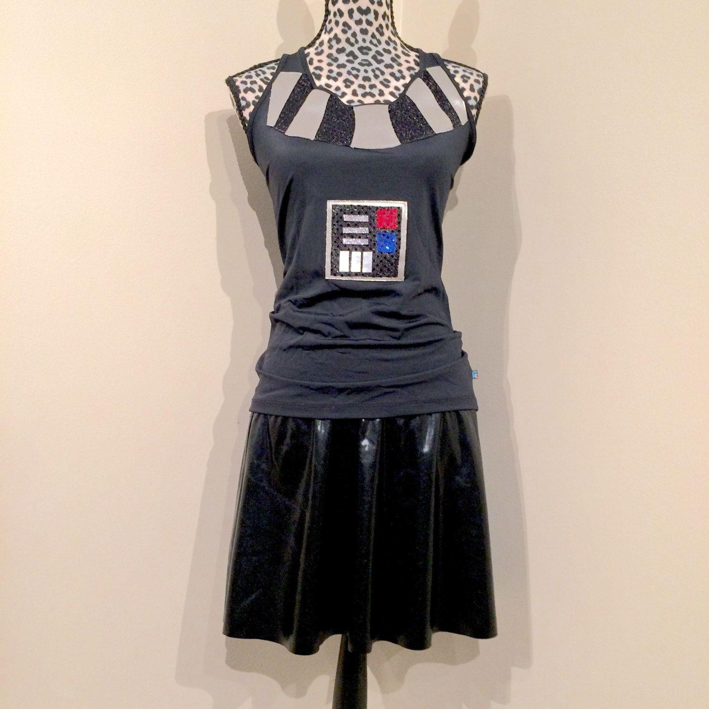 Star Wars Women Darth Vader shirt and running sparkle skirt