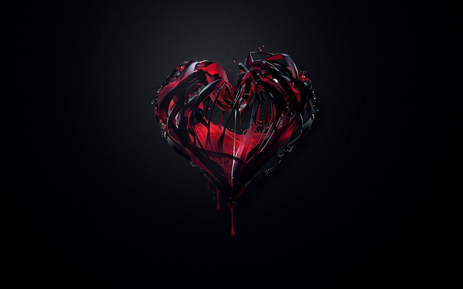 Bunch Of Random Wallpapers Broken Heart Wallpaper Heart Wallpaper Red And Black Wallpaper