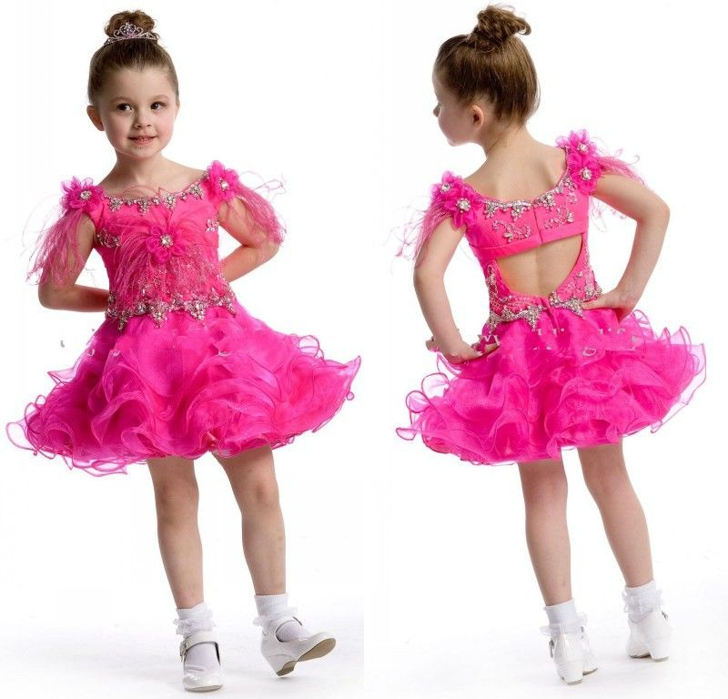 Lovely Design Long Pageant Dresses For Kids 2015 Fuchsia Puffy Prom ...