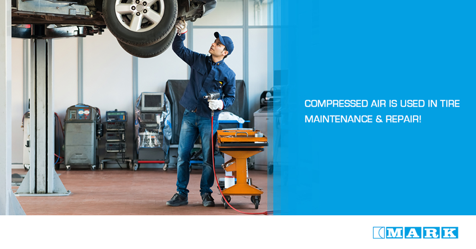 Compressed Air Is Used In Auto Body Shops And Garages For Repair And Maintenance Work Of Tires Paint Guns Ratchets Screwdrivers Compressed Air Air Compressor