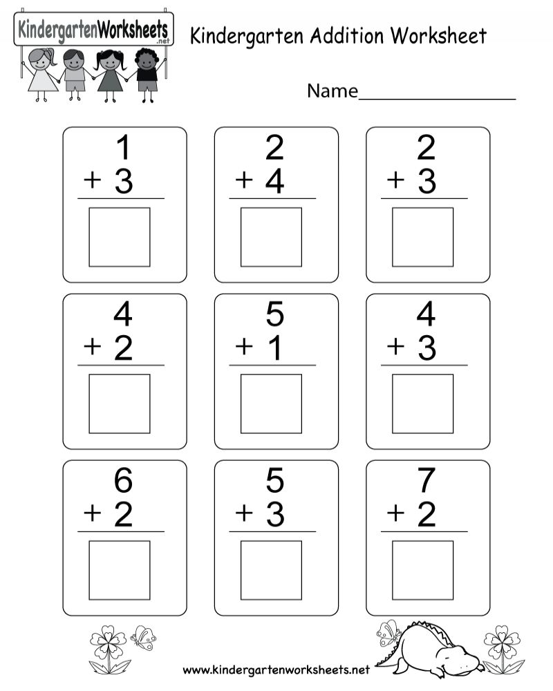 Free Printable Math Addition Worksheets For Kindergarten Math Addition Worksheets Addition Worksheets Math Addition